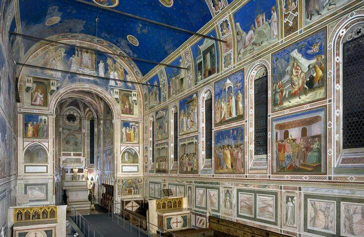 Падуя Италия достопримечательности капелла скровеньи фрески джотто капелла дель арена